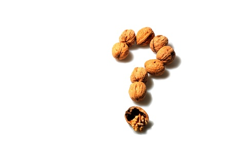 Nuts in question mark