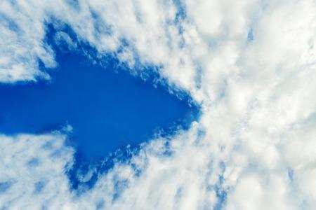 Overcast day with a arrow shape cloud