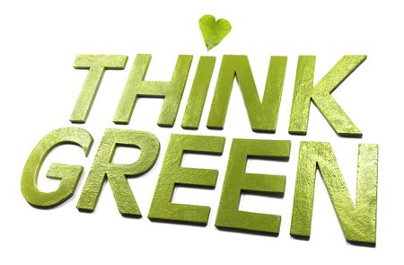 Think green Stock Photo - 77670665