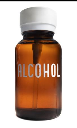 Isolated Alcohol Bottle Zdjęcie Seryjne