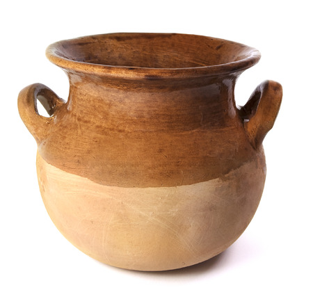 Mexican Ceramic Pot On A White Background Stock fotó - 81605765
