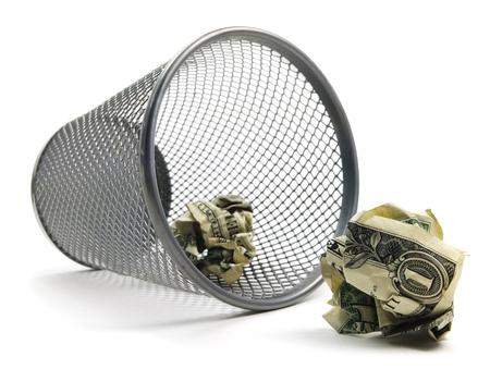 Trash Can Bin With Cash