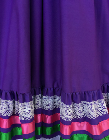 Colorful Mexican purple dress