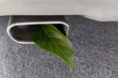 Émissions de gaz à effet de serre des véhicules Banque d'images