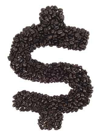 Coffee Dollar Sign Stock Photo