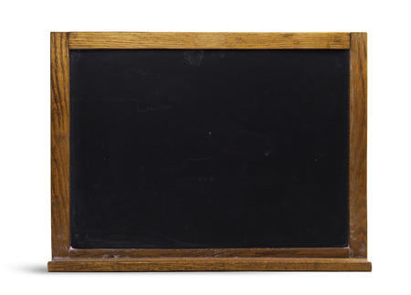 Isolated Old Wooden Chalkboard