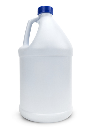 White Blank Plastic Bottle Isolated On White