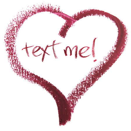 Text Me Message In Heart Shape
