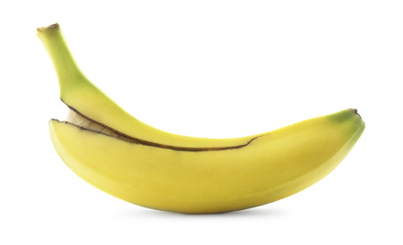 白にバナナを分離した。 写真素材