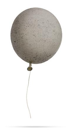 Isolated Concrete Balloon