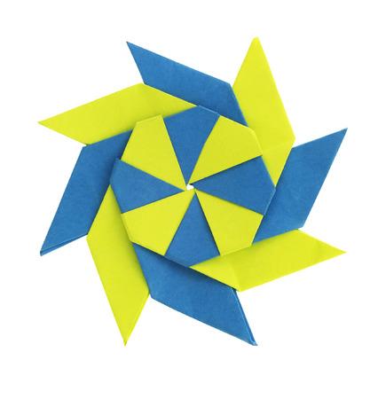 Isolated Origami paper star shape fold Banco de Imagens
