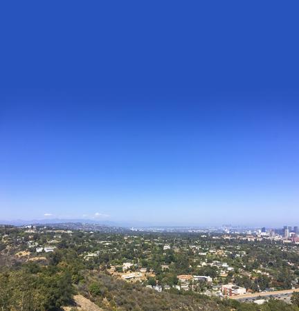 Santa Monica Mountain hilltop overlooking West Los Angeles