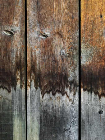 Grungy Wood Background With Water Stained Vertical Planks