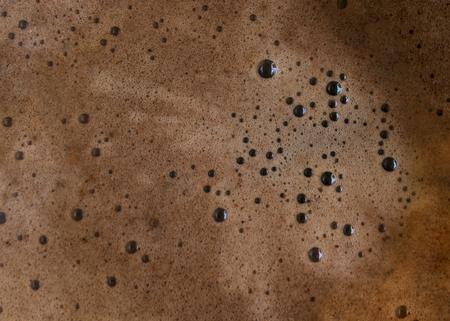 Hot Brewed Coffee Foam Bubble Background Banco de Imagens