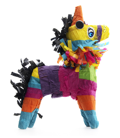 Isolated Mexican Burro Donkey Piñata
