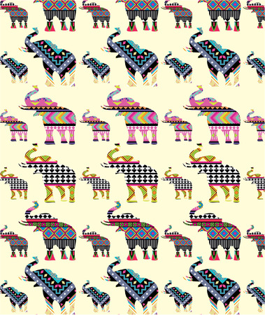 Vintage pattern design Çizim
