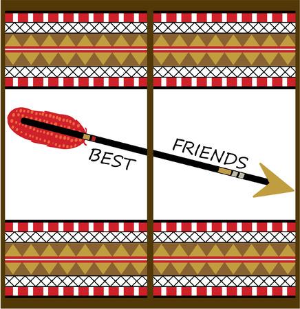 best friends arrow design Çizim