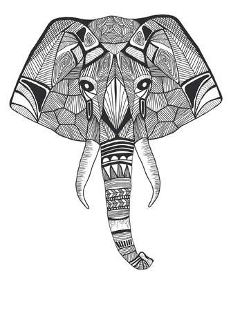 line drawings: hand drawn coloring page Illustration