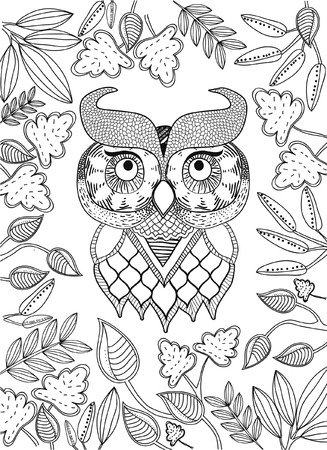 printable coloring pages: hand drawn coloring page Illustration