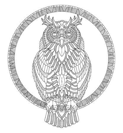 hand drawn: hand drawn coloring page Illustration