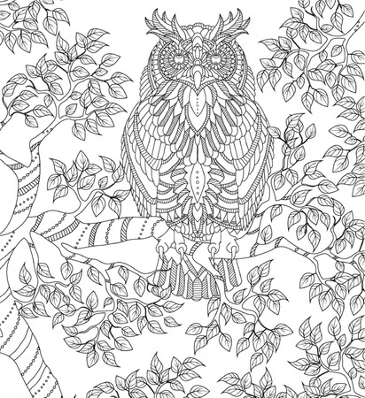 hand drawn coloring page Ilustrace