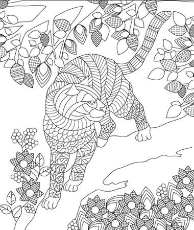 coloring pages to print: hand drawn animal coloring page Illustration