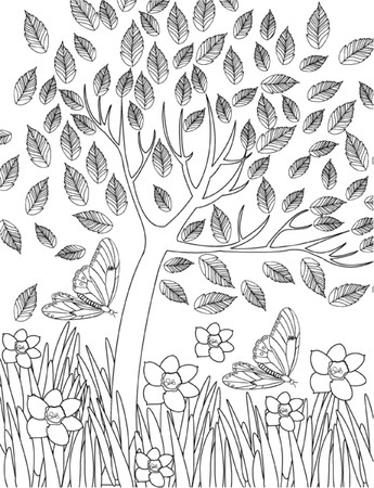 hand drawn  coloring page