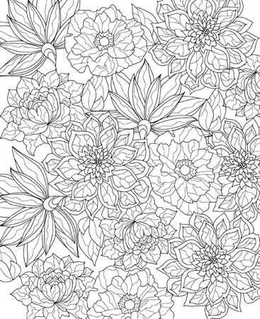 adults: hand drawn  coloring page
