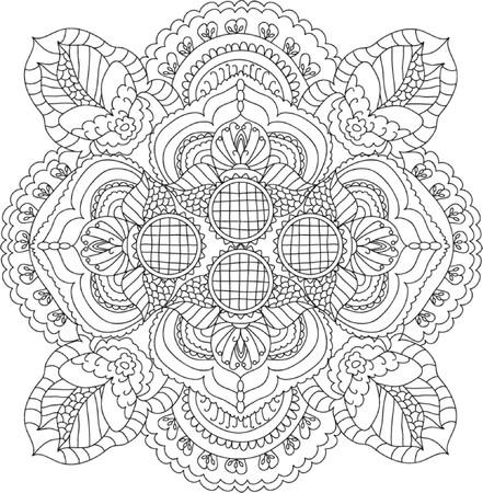 girotondo bambini: Mandala Colorare Illustrazione