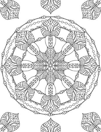 Mandala Coloring Illustration