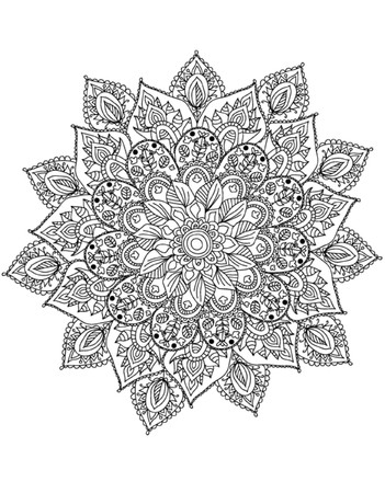 dibujos para colorear: Mandala para colorear Ilustración