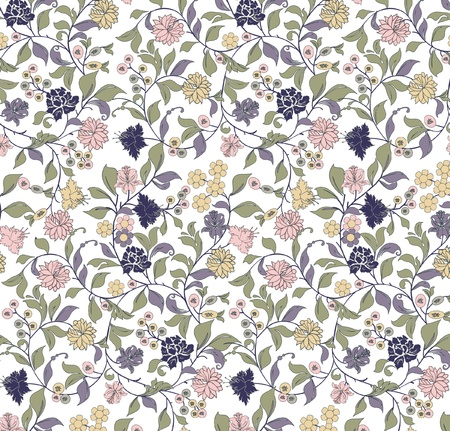 indian summer: floral seamless pattern
