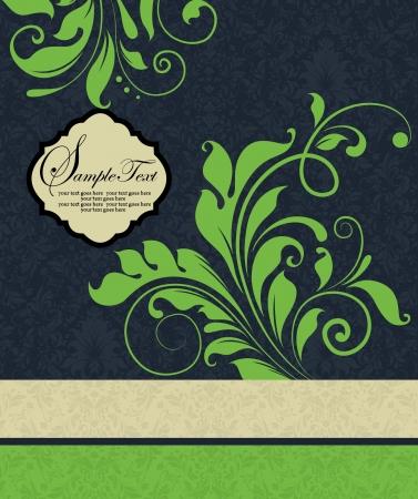 event: vintage damask invitation card