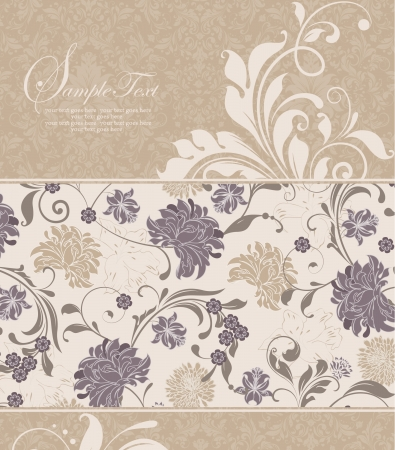 Vintage card, design for  invitation Stock Vector - 15265605