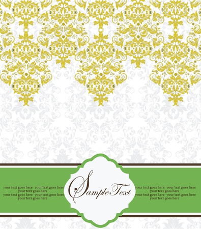 Vintage Lace   Damask Invitation Stock Vector - 15341283