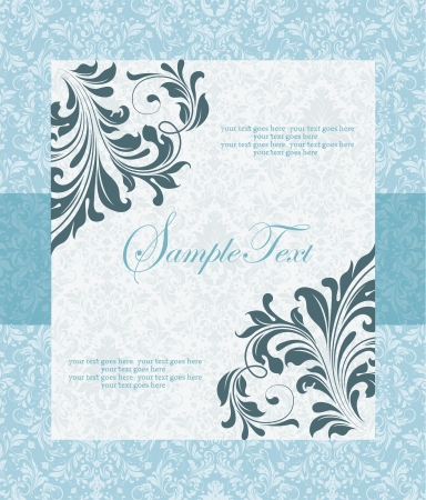 Elegance vintage invitation card place for text or message Vector