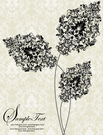 design: abstract floral invitation card
