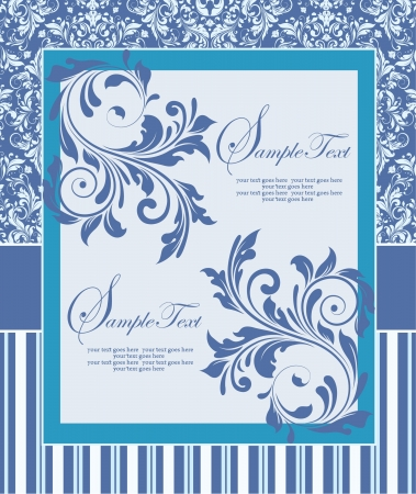 bridal: Elegance vintage invitation card place for text or message