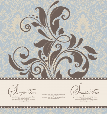 Beautiful vintage floral card Stock Vector - 15341267