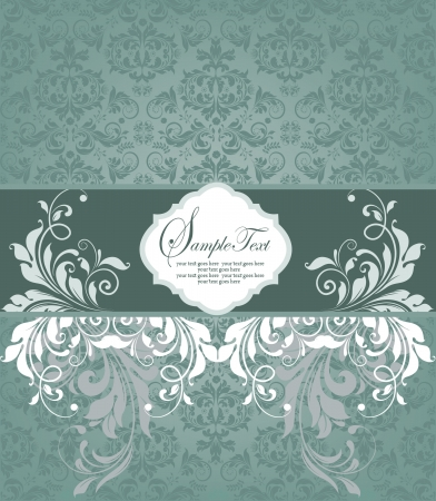 Vintage styled card with floral ornament background Vector