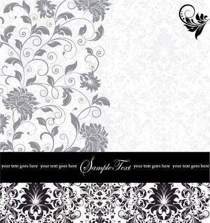 GRAY INVITATION CARD WITH PLACE FOR TEXT Illustration