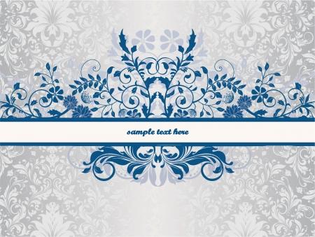 floral achtergrond met plaats voor tekst Stock Illustratie