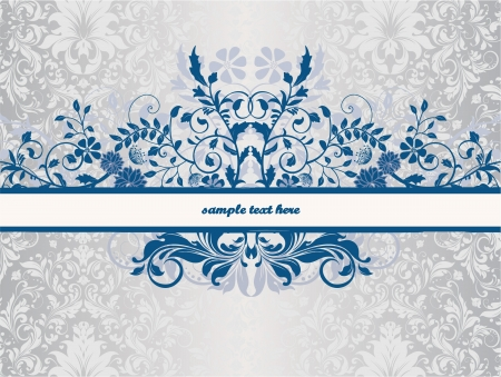 floral background with place for text Stock Vector - 15372721