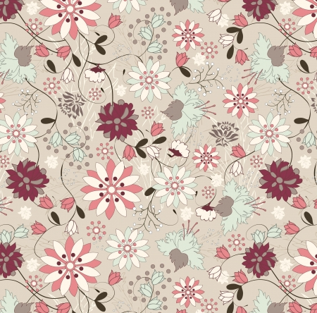 vintage illustration, pattern Vector