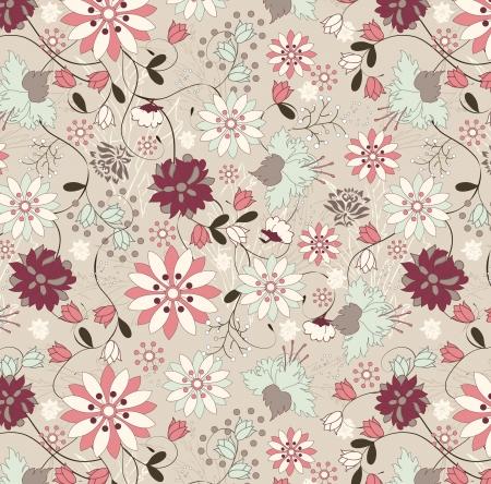 vintage illustration, pattern Stock fotó - 15442824