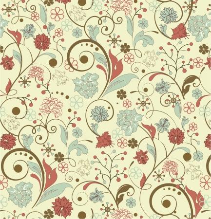 シームレスな花柄デザイン  イラスト・ベクター素材