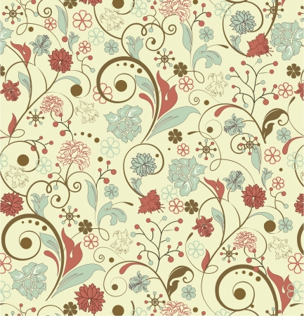 floral seamless pattern,  design Stock Vector - 15478931