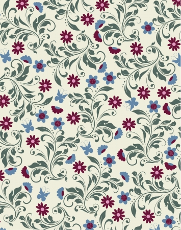 abstract flowers: vintage floral background Illustration