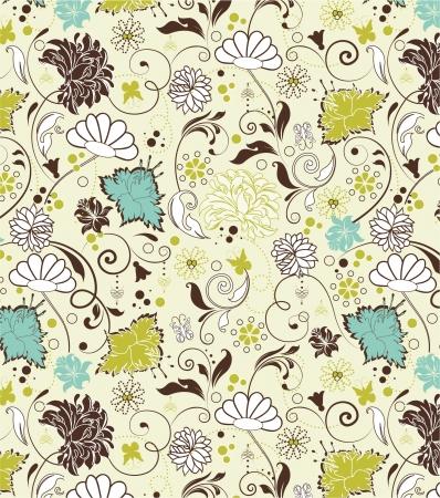 floral seamless pattern, vector design Ilustração