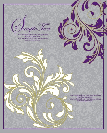 Floral Wedding Invitation Card Illustration